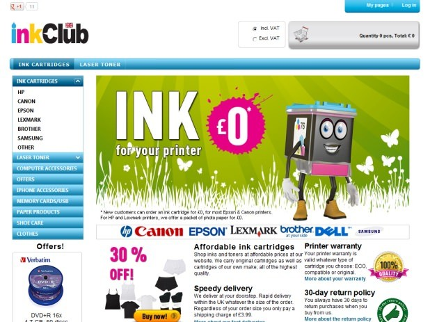 inkClub Website
