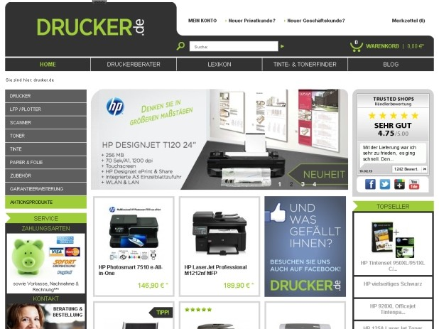Drucker.de Website
