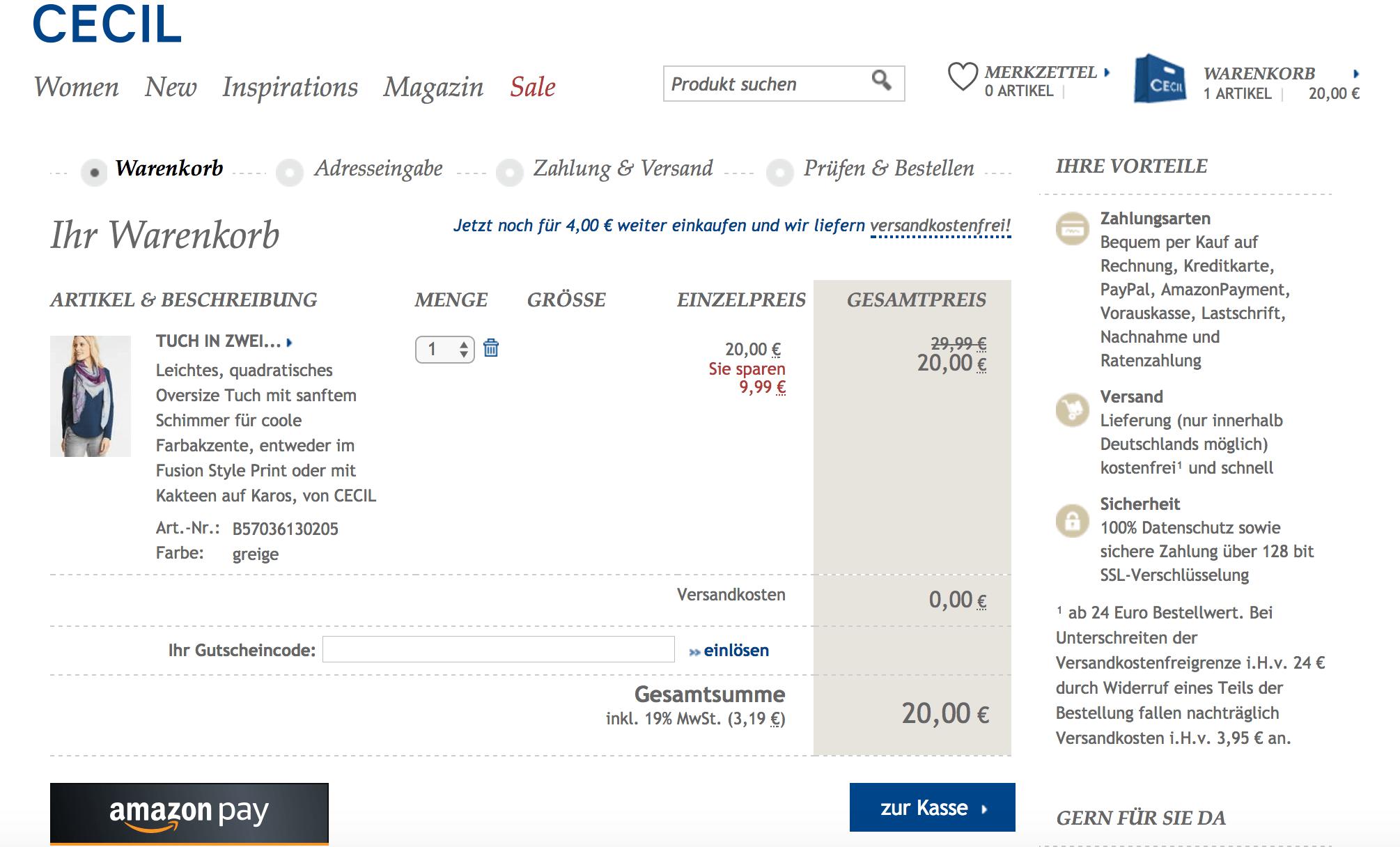 Räumungspreis genießen großer Lagerverkauf neueste auswahl CECIL Gutschein November 19 → 65 % Gutscheincode + 10 weitere