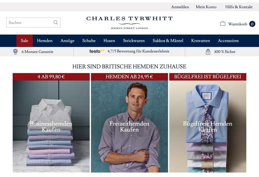Charles Tyrwhitt Gutschein Februar 20 → 311€ Code + 26 weitere