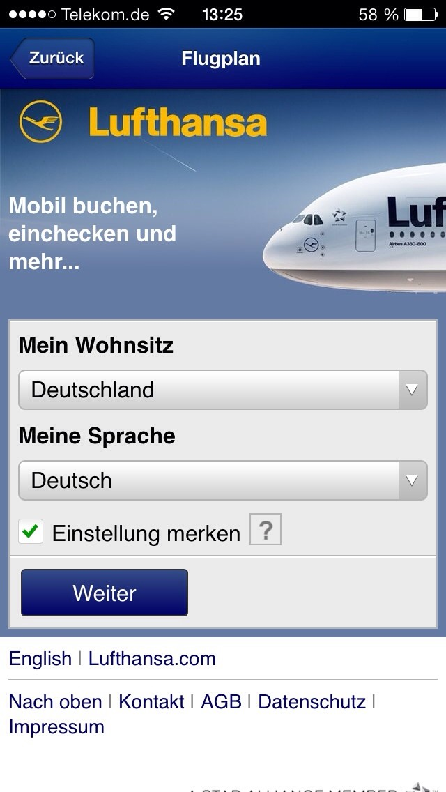 Lufthansa Flugplan Ankunft