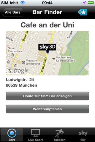 Sky Finder App